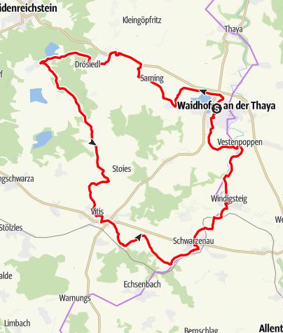 Mapa / Teiche-Radroute