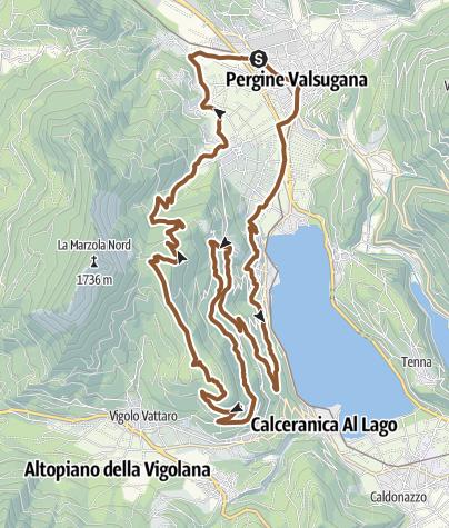 Map / MTB - Giro sulle pendici della Marzola