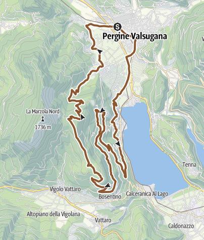 Karte / MTB - Giro sulle pendici della Marzola