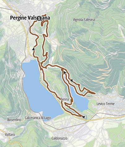 Kaart / MTB - Giro del colle di Tenna
