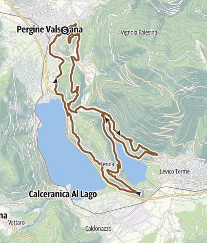Karte / MTB - Giro del colle di Tenna