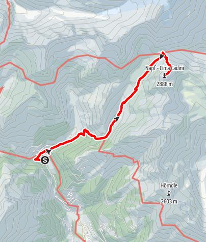 Mappa / Escursione alla Cima Napfspitze