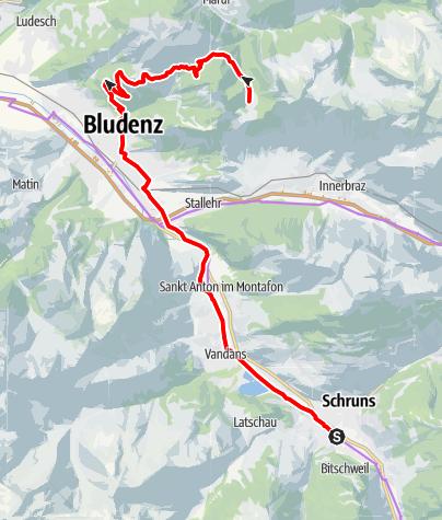 Karte / Biketour Alpe Els