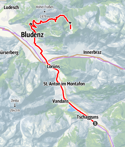 Kaart / Biketour Alpe Els