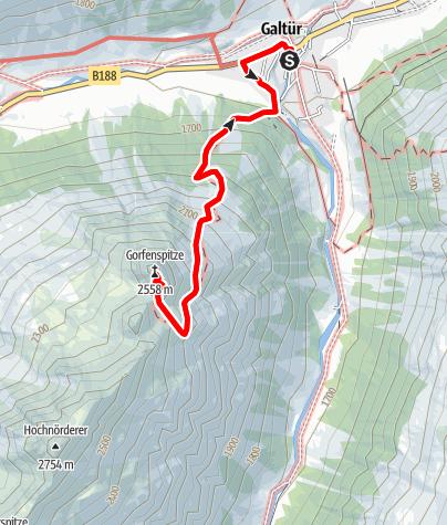 Map / Klettersteig Grofenspitze