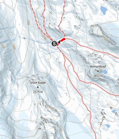 Karte / Klettergarten Wiesbadenerhütte