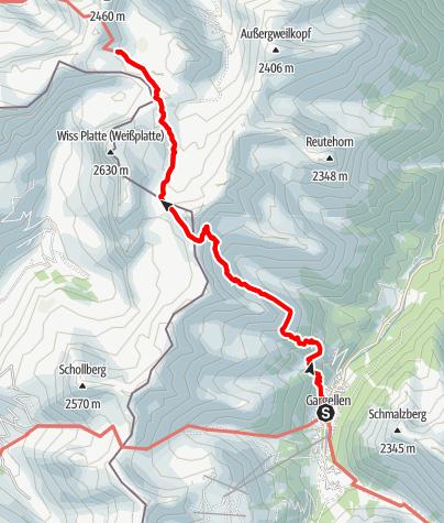 Karte / Min Weag 19 | Gargellen – Tilisuna Hütte
