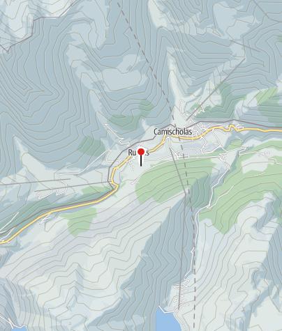 Karte / Rheincamping Rueras - Campadi Rein