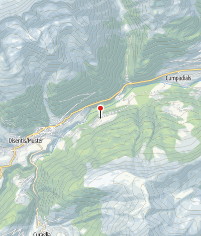 Karte / Filialkirche St. Antonius von Padua in Cavardiras