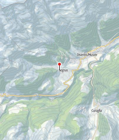 Karte / Kapelle St. Sebastian und Rochus in Segnes