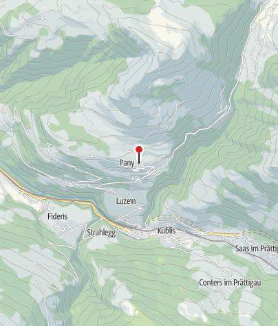Map / Parkplatz Skilift Pany