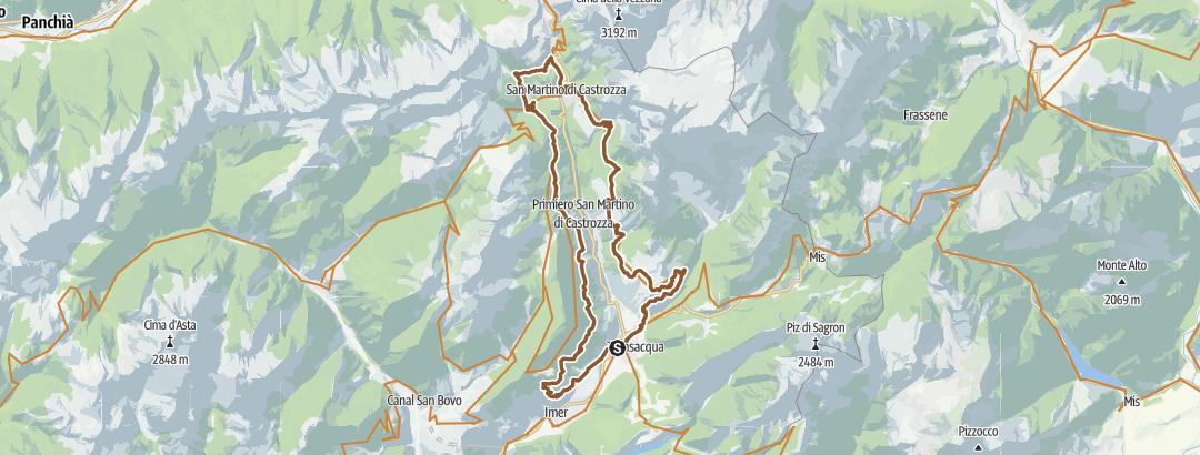 Static Map In sella al cospetto delle Pale di San Martino - Tour 2263