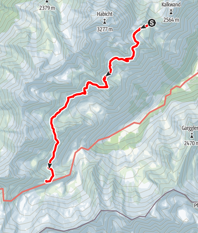 Karte / Stubai High Route Segment B - Innsbrucker Hut to Bremer Hut