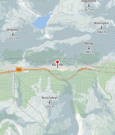 Karte / Klösterle, Katholische Pfarrkirche Heiliger Johannes der Täufer
