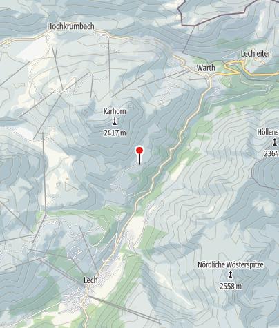 Karte / Lech, Expositurkirche Heiliger Martin