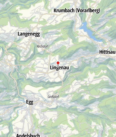 Karte / Lingenau, Katholische Pfarrkirche Heiliger Johannes der Täufer