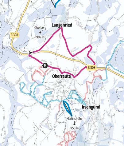 Karte / Panoramaweg Oberreute