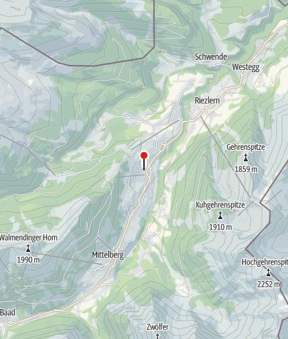 Karte / Mittelberg, Evangelische Pfarrkirche, Evangelische Kreuzkirche