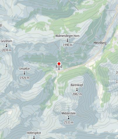 Karte / Mittelberg, Kuratienkirche Heiliger Martin
