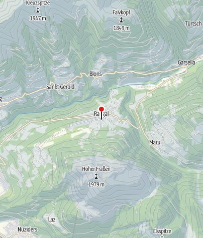 Karte / Raggal, Katholische Pfarrkirche Heiliger Nikolaus und Heiliger Theodul