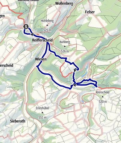 Karte / 2-Burgen-Route - OG Reifferscheid
