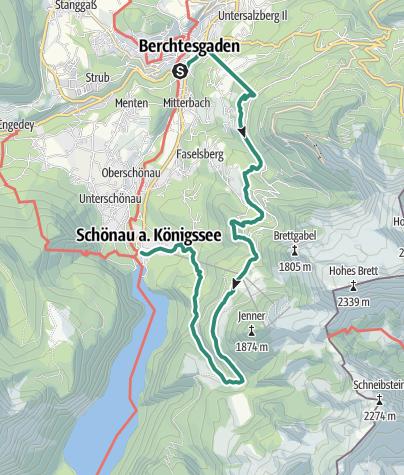 Karte / Berchtesgadener Höhenweg 1. Etappe