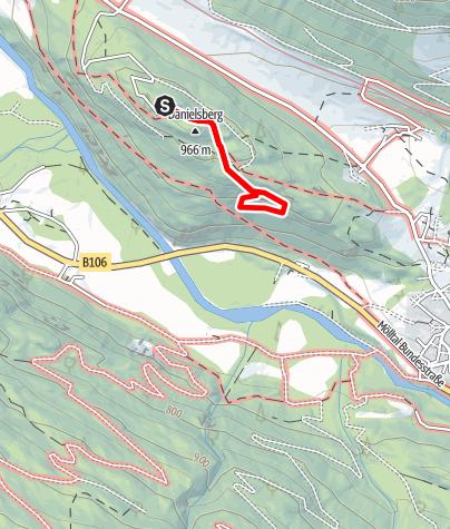 Karte / Danielsberg-Klettersteig