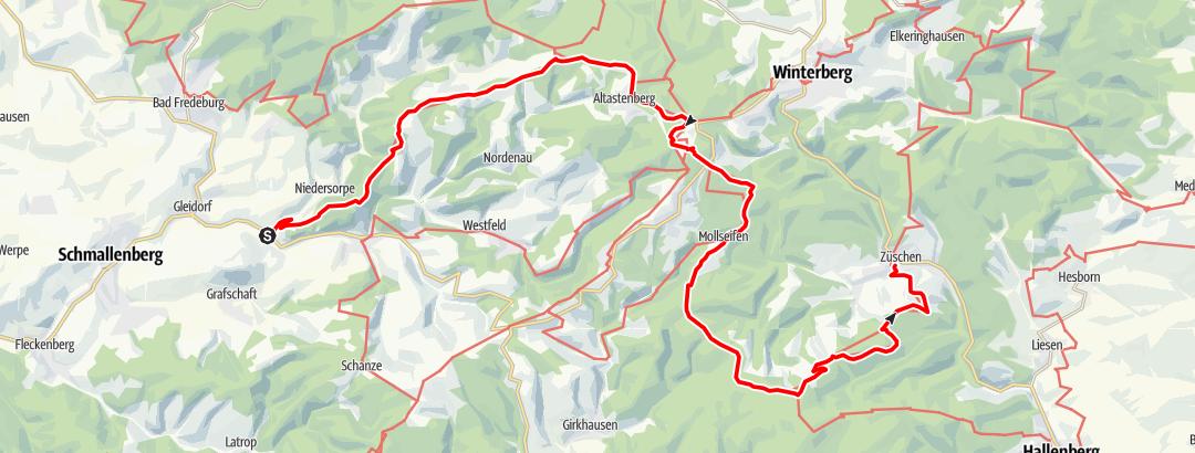 Static Map Hochsauerland-Kammweg