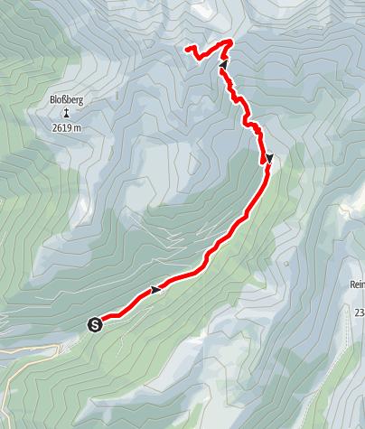 Mapa / Bergtour zur Großen Windschar