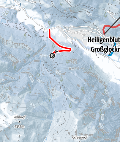 Karte / Rodelbahn Heiligenblut - Ponwald