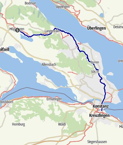 Karte / Querweg Etappe 8