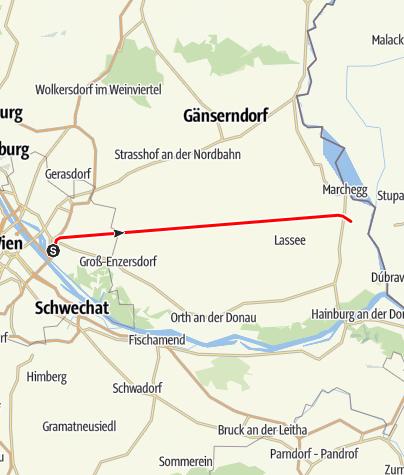 Karte / Marchegger Ostbahn