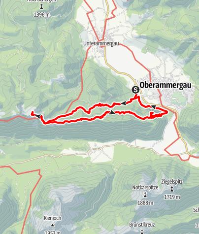 Karte / Bergtour - Teufelstättkopf, Sonnenberg und Kofel