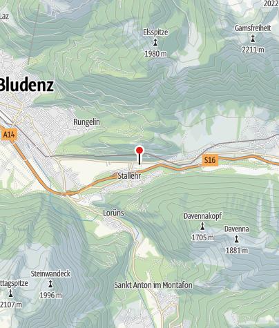 Karte / Bludenz - Bings, Katholische Pfarrkirche zur Heiligen Dreifaltigkeit