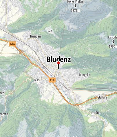 Karte / Bludenz, Katholische Pfarrkirche Heiliger Laurentius