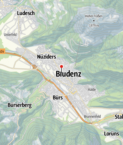 Karte / Bludenz, Katholische Pfarrkirche Zum Unbefleckten Herzen Mariens