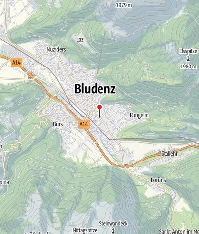 Karte / Bludenz, Katholische Pfarrkirche Heiliges Kreuz