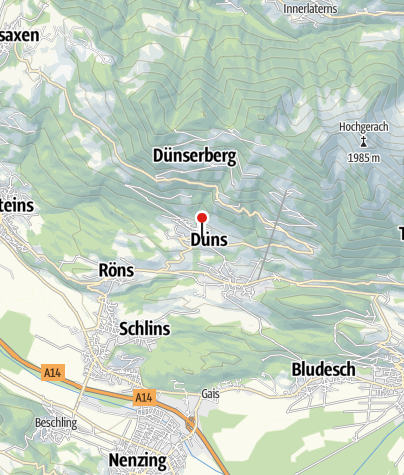 Karte / Düns, Katholische Pfarrkirche Heiliger Antonius Abt