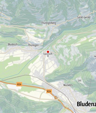 Karte / Ludesch, Katholische Pfarrkirche Heilgier Sebastian mit Friedhof