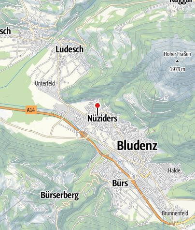 Karte / Nüziders, Kirche Heiliger Vinerius