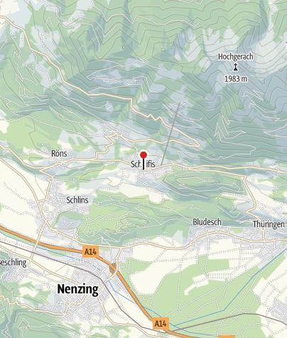 Karte / Schnifis, Katholische Pfarrkirche Heiliger Johannes der Täufer und Friedhof