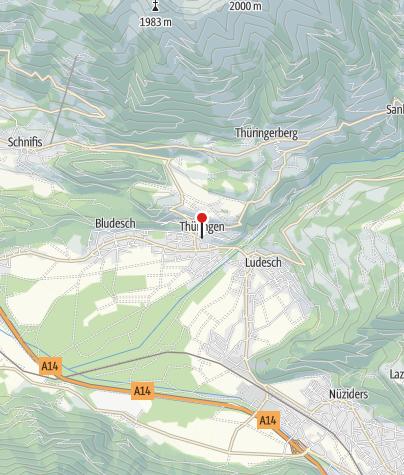 Karte / Thüringen, Katholische Pfarrkirche Heiliger Stephan mit Friedhof