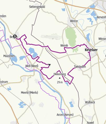 Karte / Niederrheinische Raderlebniswoche 2021 - Routentipp 17