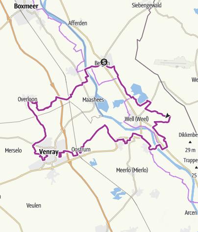 Karte / Niederrheinische Raderlebniswoche 2021 - Routentipp 19