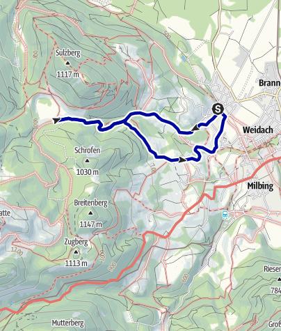 Karte / Wandern von Brannenburg aus - Auf die Schlipfgrubalm