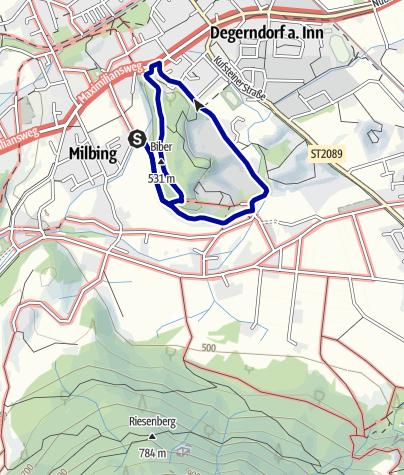 Karte / Wandern von Brannenburg aus - Biber-Rundweg