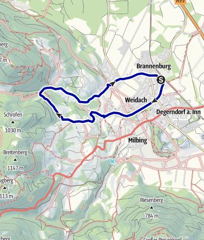 Karte / Wandern von Brannenburg aus - Nach Höllenstein und Brannenburg