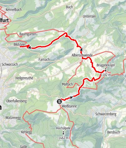 Karte / Min Weag 30   Bödele – Bildstein