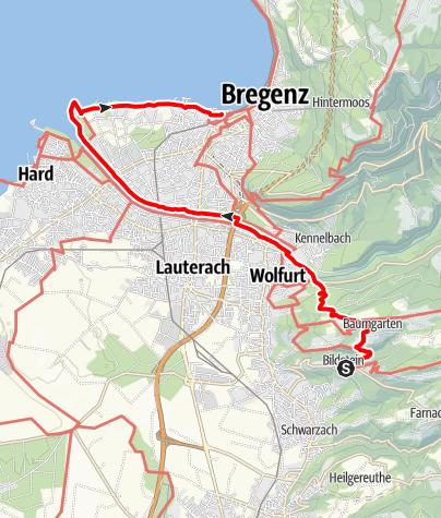 Karte / Min Weag 31 | Bildstein – Bodensee
