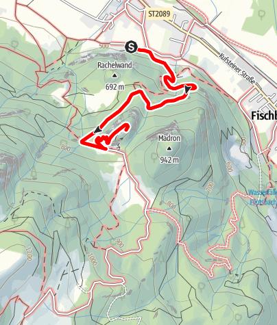 Karte / Wandern von Flintsbach aus -  Entlang der Apostelstationen auf den Petersberg